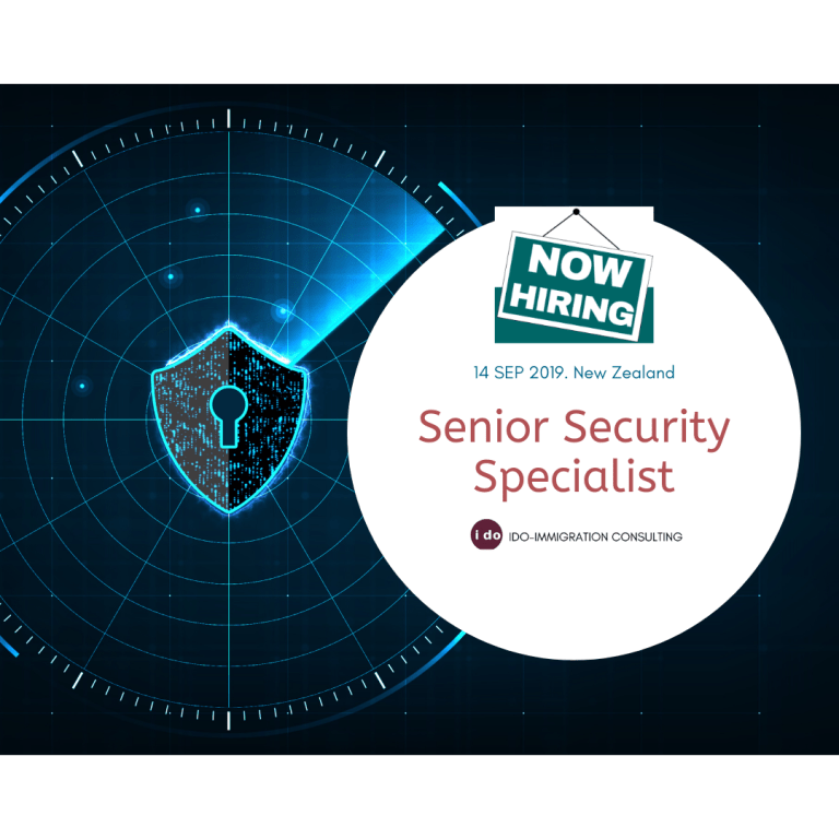 【紐西蘭招聘】Senior Security Specialist