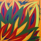 "Painting No. 17 - Title ""Alive"" by Abstract Artist Karen Robinson - 2008 NB: All images are protected by copyright laws!"