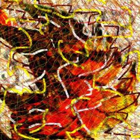 """Abstract Digital Photo Painting No. 8A """"Oaks Day - Feather in Hat"""" 2008 by Abstract Artist: Karen Robinson NB: All images are protected by copyright laws!"""