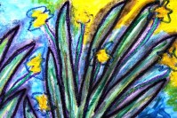 2 - Art Therapy Session No. 5 'Going to a safe place!' Painting by Abstract Artist Karen Robinson Sept 2014 NB All images are protected by copyright laws! .JPG