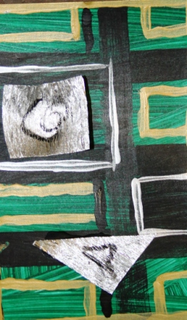 7. ArtTherapy Group Session 7 'Our journey is at an end!' Painting by Abstract Artist Karen Robinson Sept 2014 NB All images are protected by copyright laws.JPG
