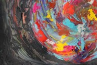 Image No. 4 - Art & Creative Writing 'The Art of Peace' by Karen Robinson - Abstract Artist 20-12-2014 Acrylic Paint on HW Paper NB All images are subject to copyright laws.JPG