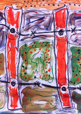 No. 20-20 Art Therapy Group Sessions 2,3 & 4 Art Works created by Abstract Artist Karen Robinson Feb-Mar 2015 NB All images are protected by Copyright.JPG