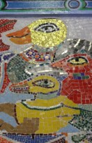 No. 58 of 70 images of MIRKA MORA'S FLINDERS ST STATION MURAL – Melbourne Australia Photographed by Karen Robinson 18th April 2015 NB All images are subject to copyright laws
