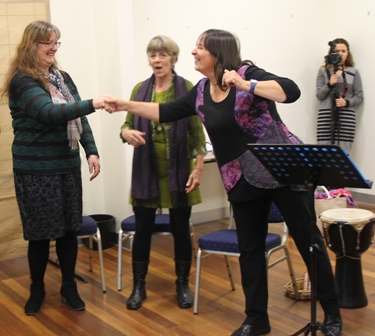 No. 3 of 3 Creative Conversations with Regional Arts Victoria - Kerry Clarke, Choir Leader Photographed by Karen Robinson - Abstract Artist 11th July 2015.JPG