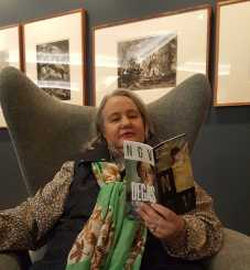 Karen Robinson at the NGV Members Lounge enjoying a coffee and a read of the DEGAS - A NEW VISION Brochure for seeing the exhibition 2016 NB: All images are protected by copyright laws