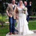 Wedding Officiant and couple in Saldo Texas