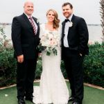 Bride and Groom with Austin officiant Stephen Simmons