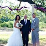 Austin officiant and couple at Ruby Ranch
