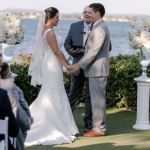 Wedding ceremony at Horseshoe bay Austin wedding officiant