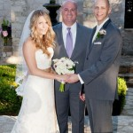 Austin Wedding Officiant and couple at Vista on Seward Hill