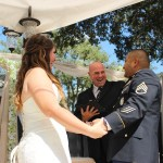 Austin officiant and couple at altar