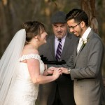 Austin officiant with bride and groom at alter
