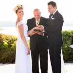 Ring ceremony at Vintage Villas Austin Officiant