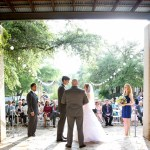Austin Wedding Officiant bride and groom at Wildflower center