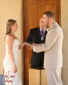 Ring Ceremony with Austin officiant bride and groom