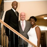 Round Rock wedding ceremony, officiant and couple