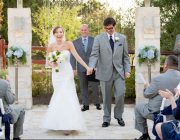 Wedding officiant and couple in Austin
