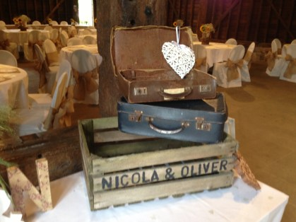 Vintage barn wedding Vintage suitcases - £10.00 for two