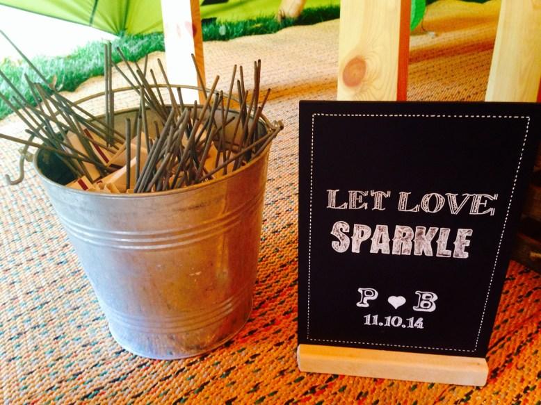 rustic wedding in a tipi sparkler bundle
