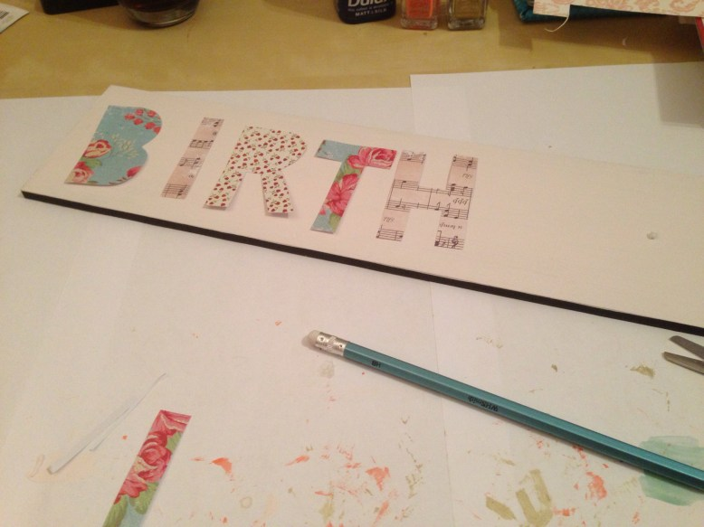 remember people's birthdays paper letters for this diy idea