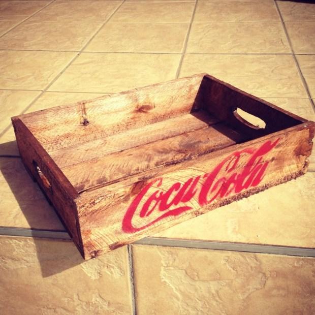 Vintage coca cola milk bottle tray