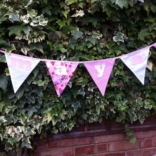 Personalised kids bunting