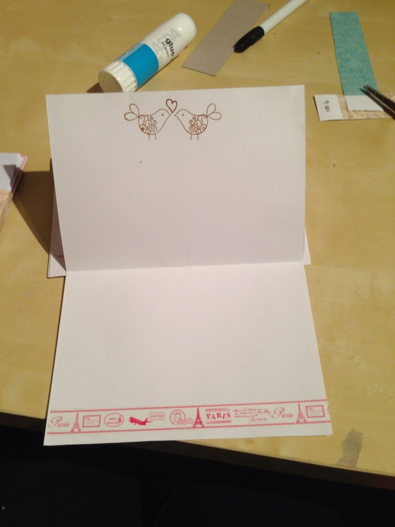 handmade gift idea writing kit in the making notelet ideas
