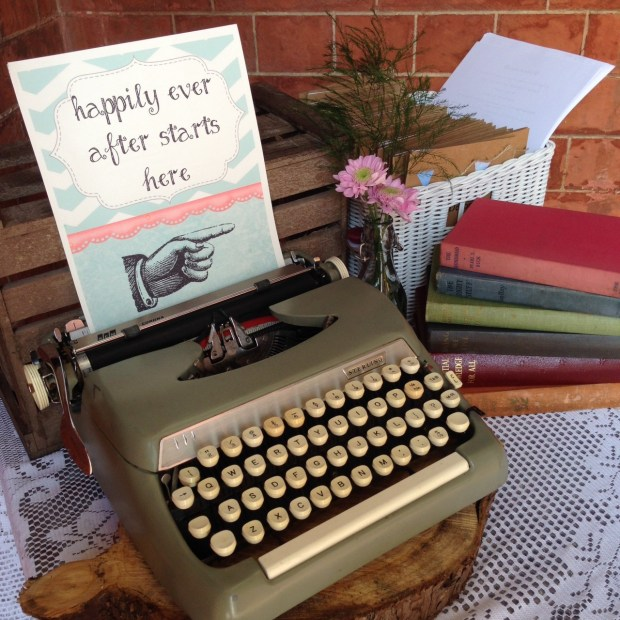 Typewriter and personalised sign