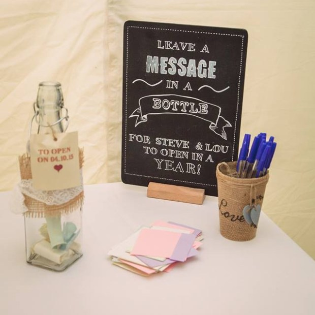 Message in a bottle guestbook