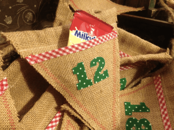 advent calendar bunting