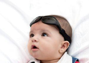 Baby wearing Baby Wrapz 2 convertible baby sunglasss