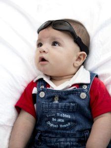 Baby wearing Baby Wrapz 2 convertible baby sunglasses