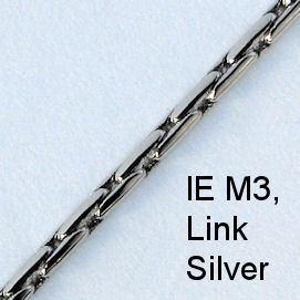 IE M3 - Metal (Link) chain, Silver