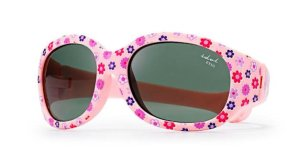Tiny Tots I - IE5630, Baby pink frame baby girls sunglasses with flower print