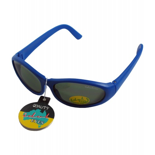Tiny Tots II - IE88, Blue frame traditional wraparound toddler sunglasses
