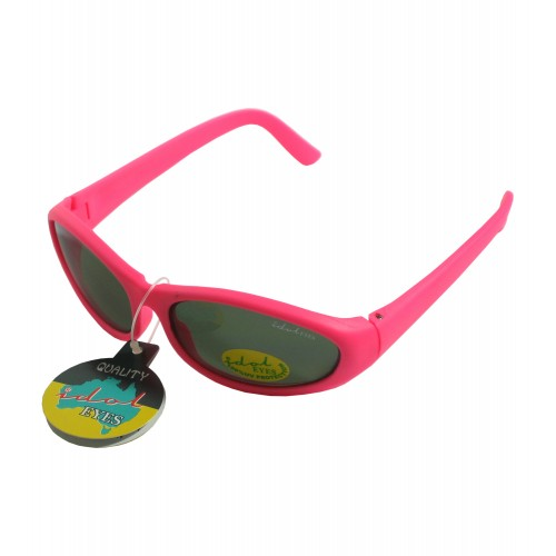 Tiny Tots II - IE88, Pink frame traditional wraparound toddler sunglasses
