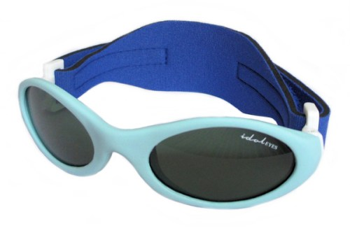 Premy Wrapz, Baby blue sunglasses with G-15 lens