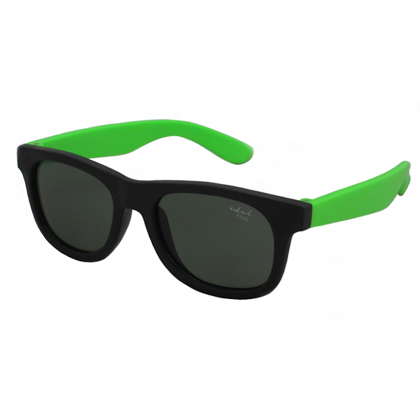 Tiny Tots II - IE1027SR, Black / green frame traditional toddler sunglasses
