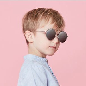 Looking cool in Kids I - IE69185, Silver oval sunglasses