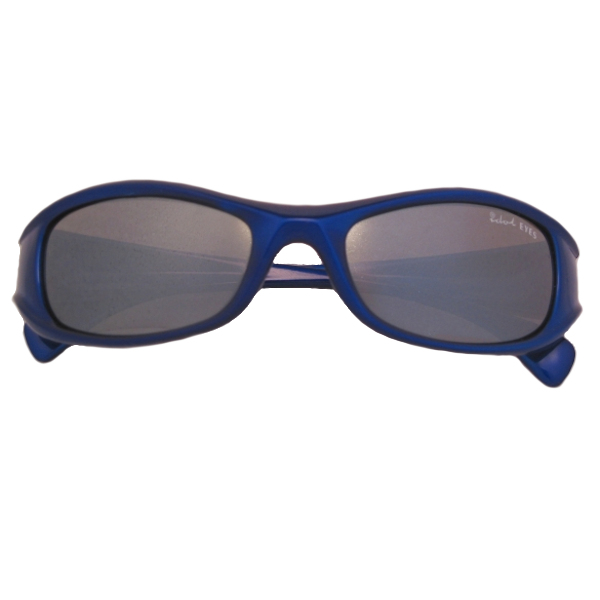 Kids I - IE7019, Shiny Metallic Blue frame with silver mirror lens