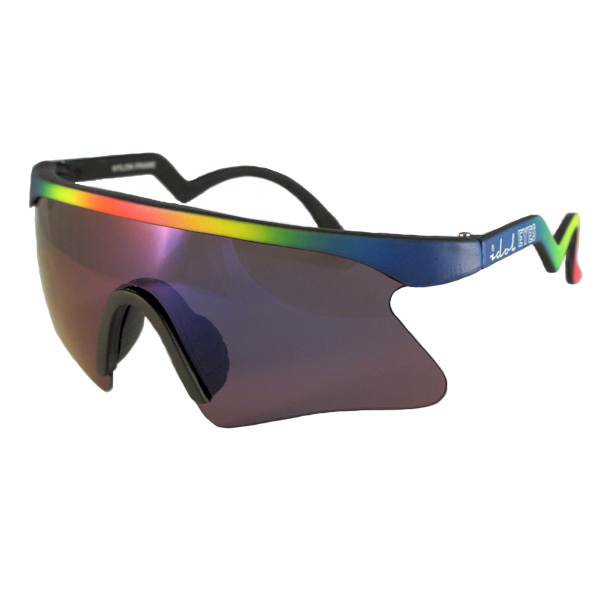Kids II - IE 735CSX, Black - Neon rainbow frame kids blade sunglasses