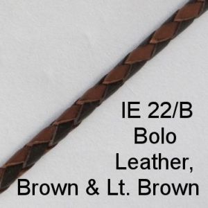 IE 22-B Bolo Leather Brown & Lt. Brown spectacle cord
