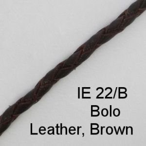 IE 22-B Bolo Leather Brown spectacle cord