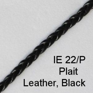 IE 22-P Plait Leather Black spectacle cord
