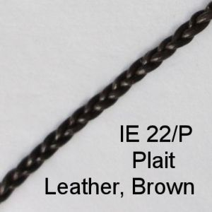 IE 22-P Plait Leather Brown spectacle cord