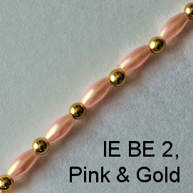 IE BE 2, Pink & gold spectacle chain