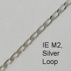 IE M2, (Loop) Silver spectacle chain