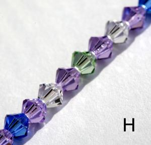 Swarovski crystal spectacle chain - style H