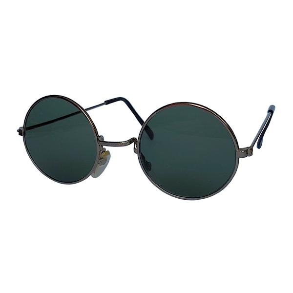 IE 056 Antique silver, Classic metal round sunglasses